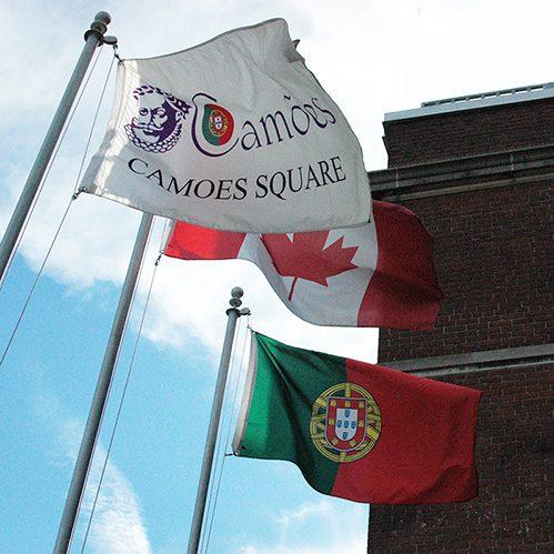 Camoes Square Toronto - Portugal & Canada Flag